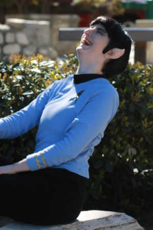 Spock - Star Trek Cosplay Laughing